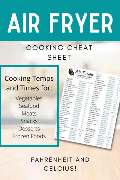 Air Fryer Cooking Cheat Sheet